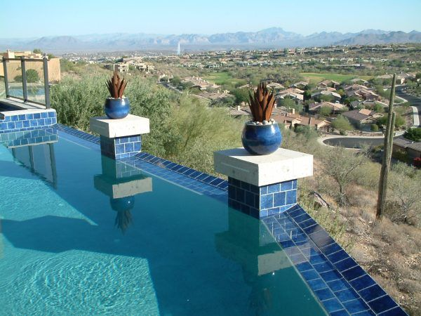 image of terrific national pool tile tempe with perimeter overflow ...