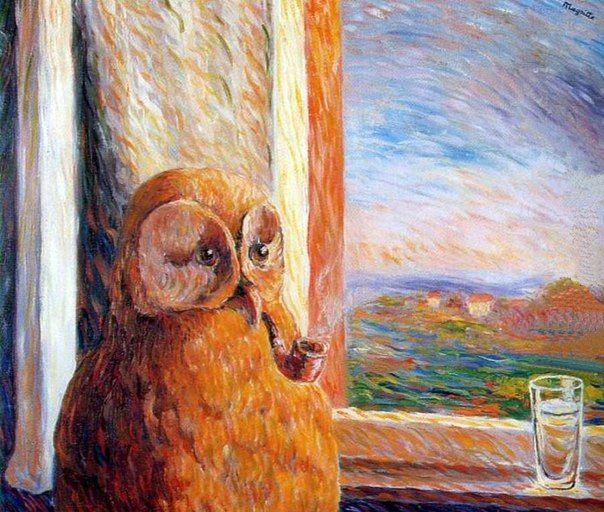 René Magritte - Le Somnambule, 1947