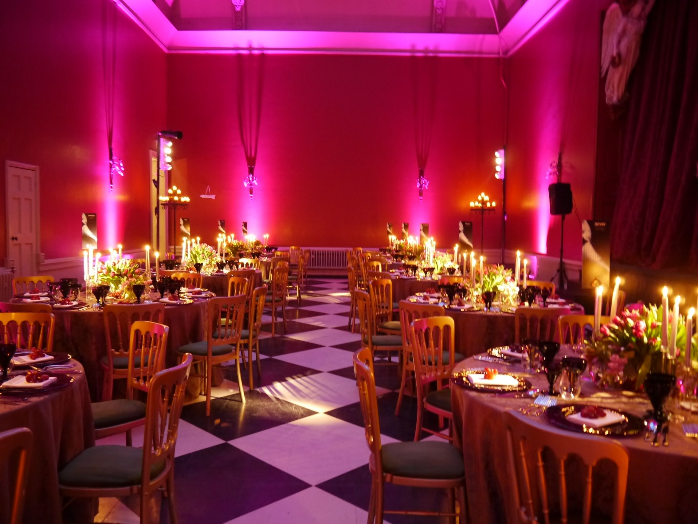 Fabulous party lighting in a great setting Hampton Court House