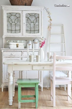Küchentisch, Esstisch, Antiker Küchentisch mit Schublade, ACQUA - küchentisch mit schublade