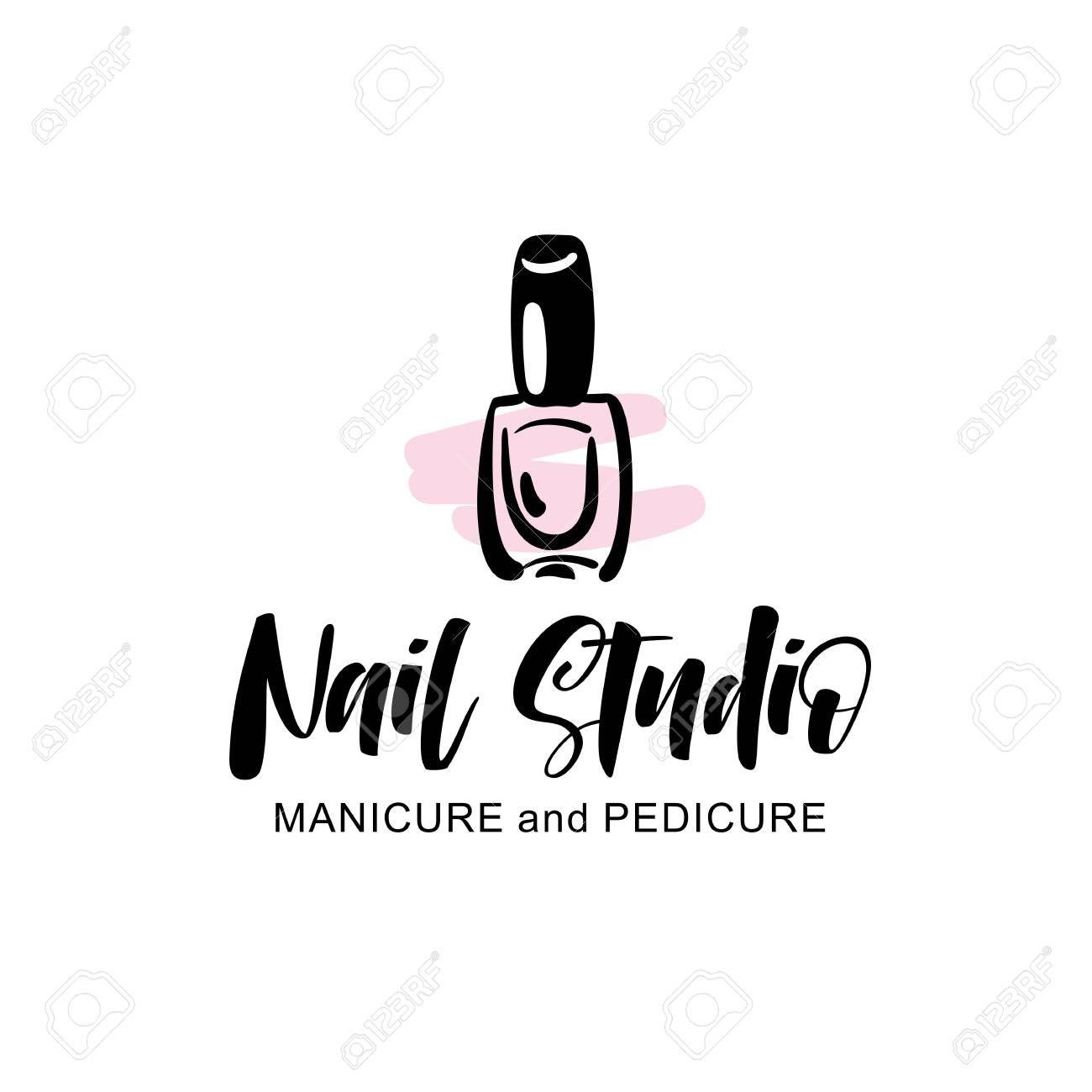 Nail studio logo Illustration , ad, studio, Nail,