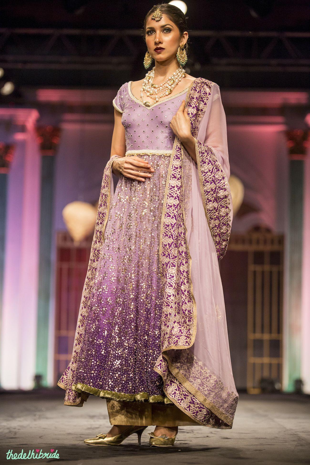 Ombre lilac Meera & Muzaffar Ali India Bridal Fashion Week 2014 ...