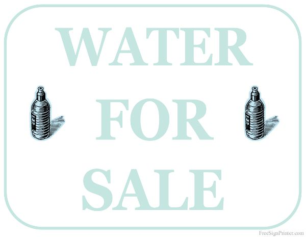 Printable Water For Sale Sign For Sale Sign Sign Image Printables
