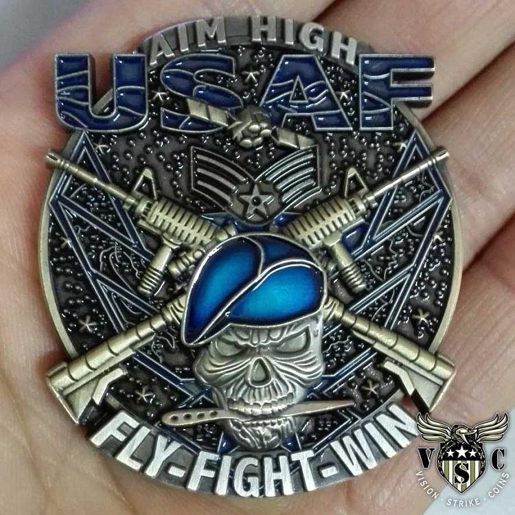 USAF Senior Airman Blue Beret Rank Coin Military coins