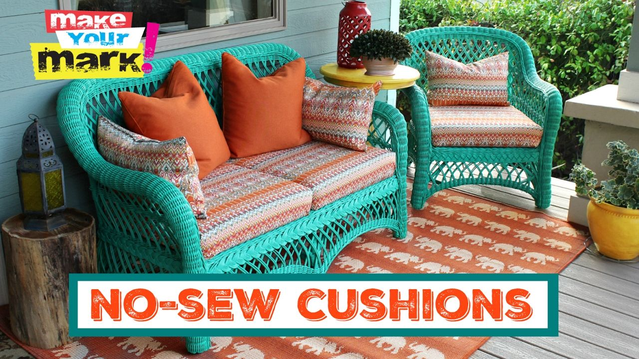 How To No Sew Pillows And Cushions Youtube Patio Furniture