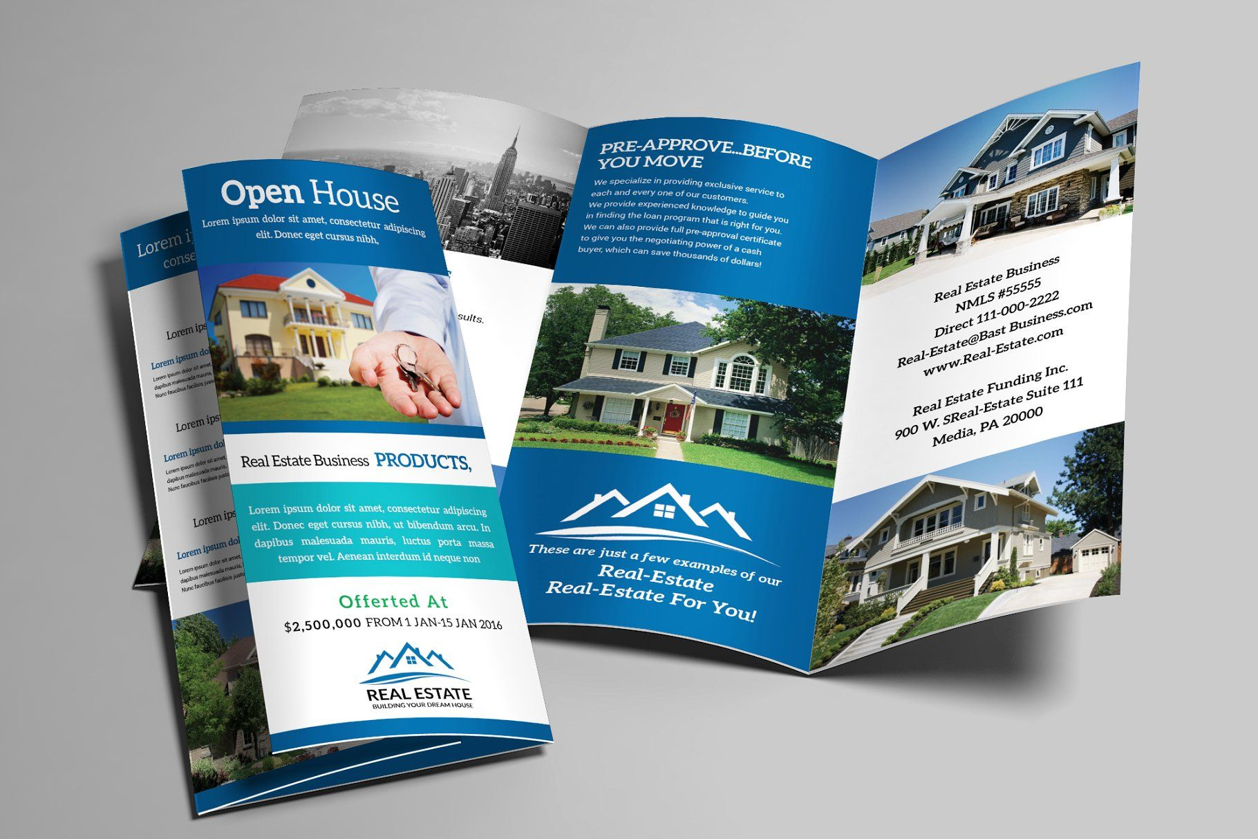 real estate trifold brochure estate real trifold templates