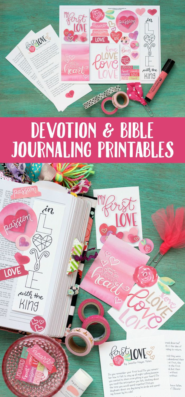 FREE Devotion Bible Journaling Printables