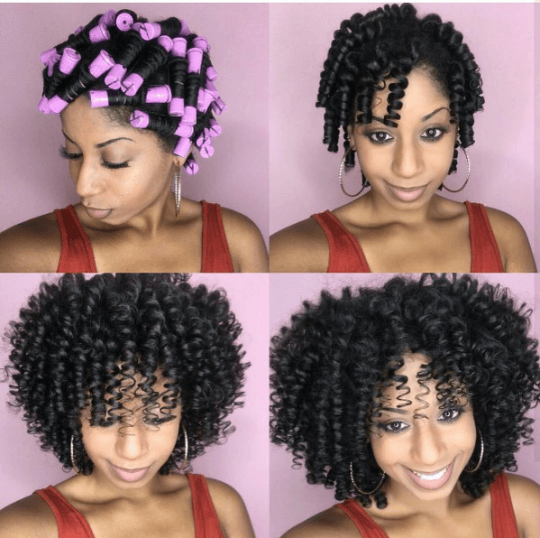 perm rods natural hair curly