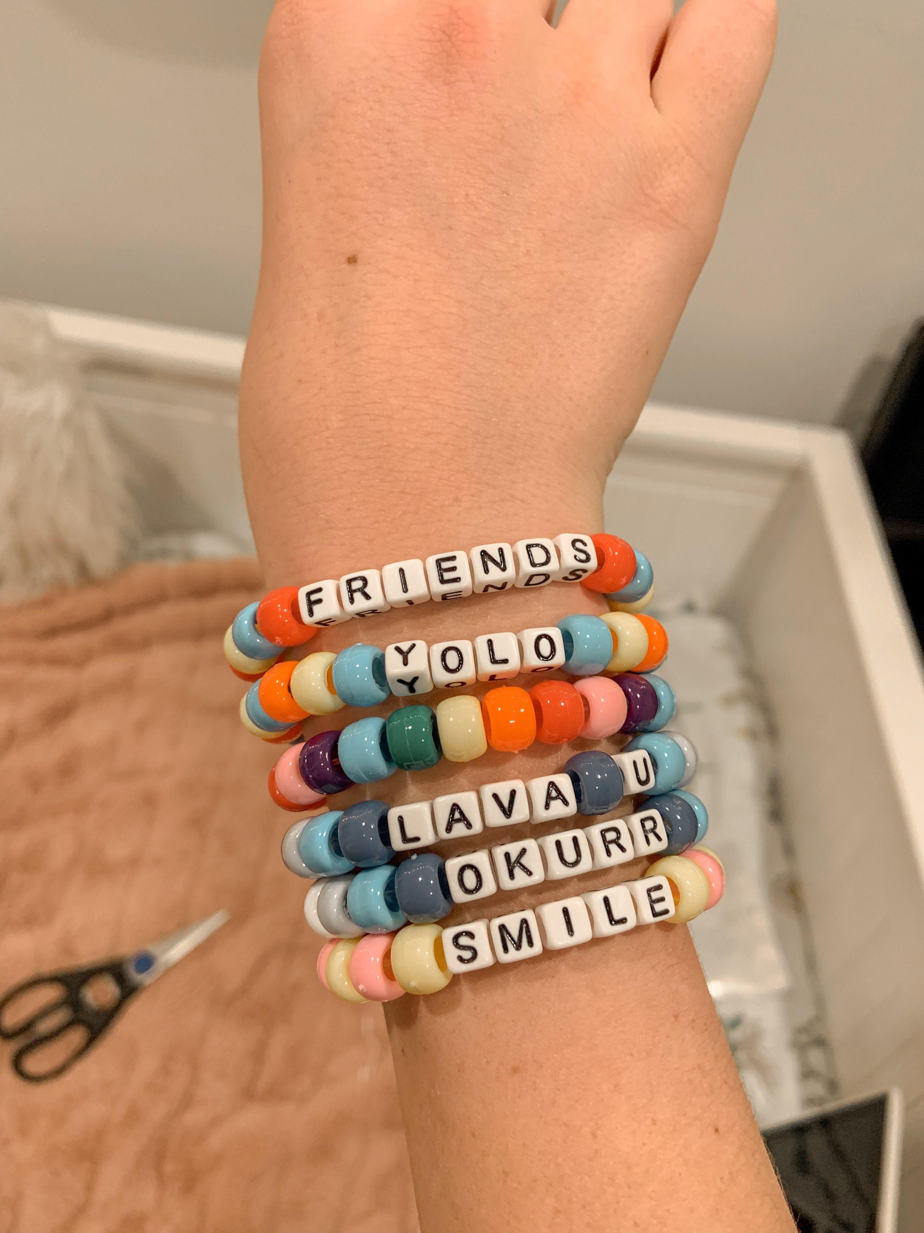 Chevron Pacifier Clip Friendship Bracelet Style