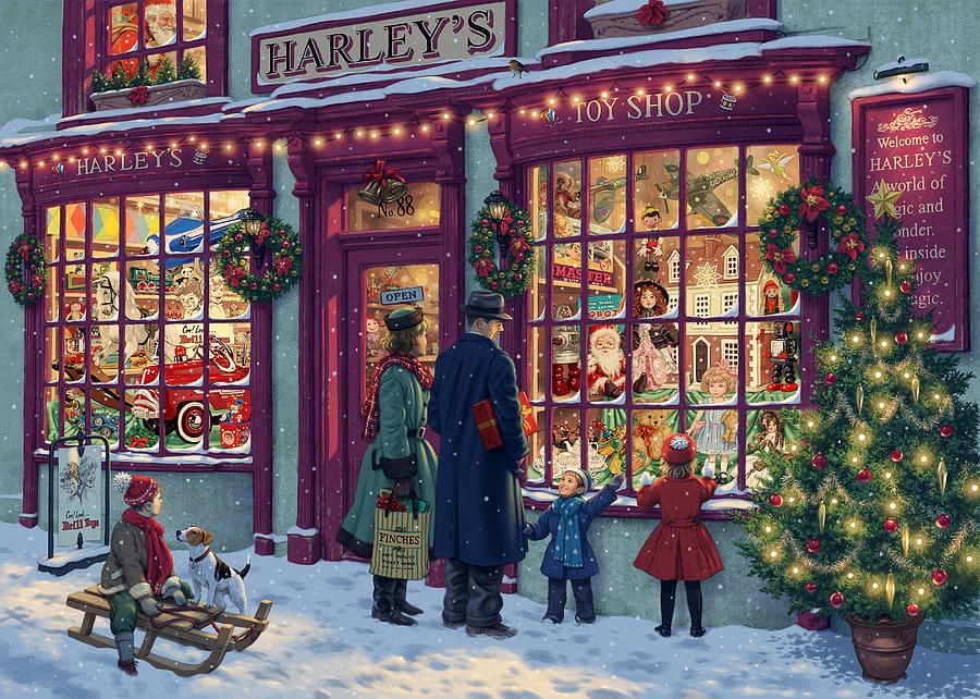 Toy Shop Variant 2 By Steve Read Christmas Shop Window Christmas Toy Shop Christmas Puzzle