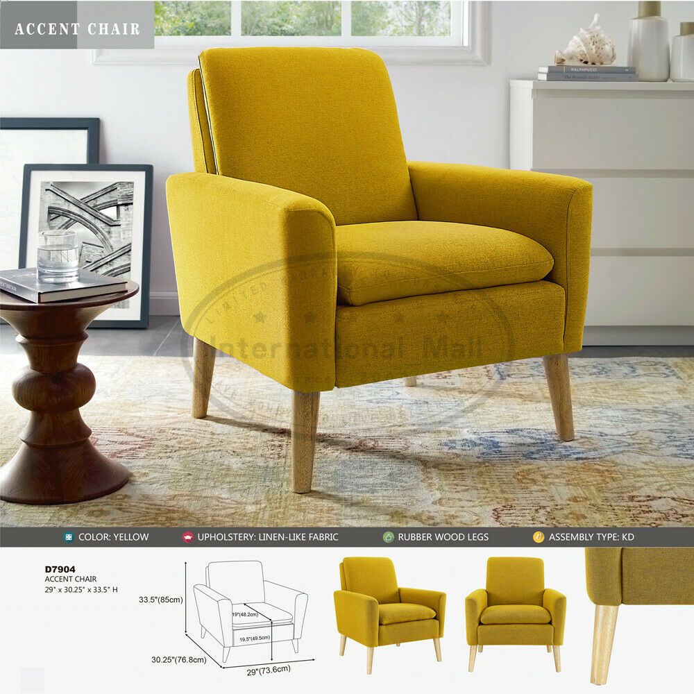 Modern Accent Fabric Chair Single Sofa Comfy Upholstered Arm Chair Living Room Chair Bedroom Id Arm Chairs Living Room Comfy Armchair Upholstered Arm Chair