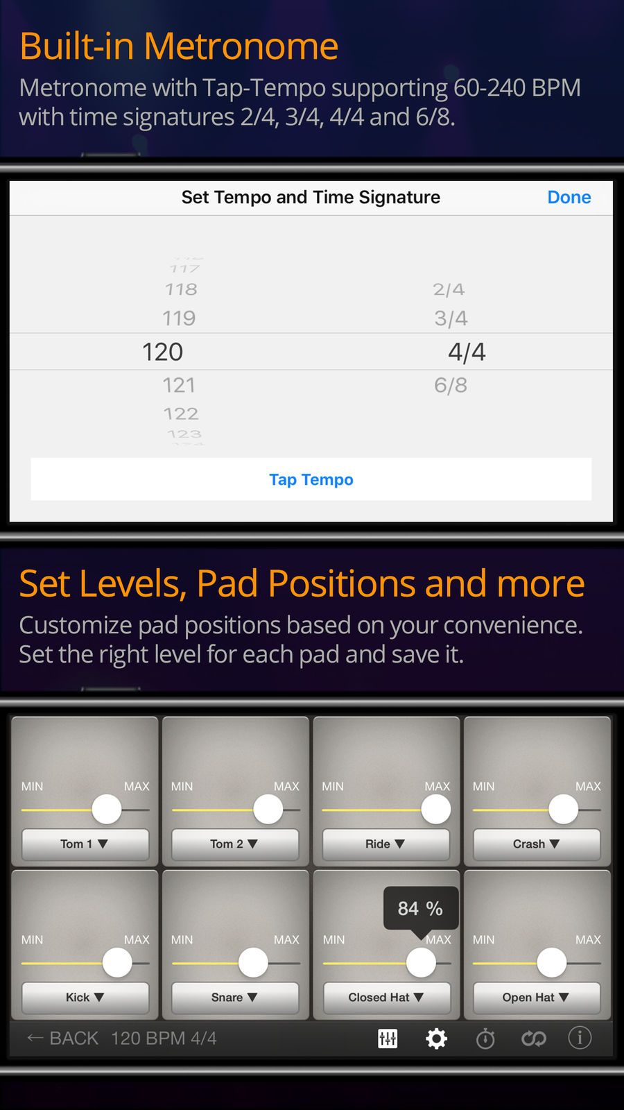 Rhythm Pad UtilitiesMusicappsios How to play drums