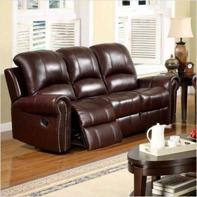 Bundle 50 sedona leather reclining sofa 3 pieces by for Abbyson living sedona leather chaise recliner