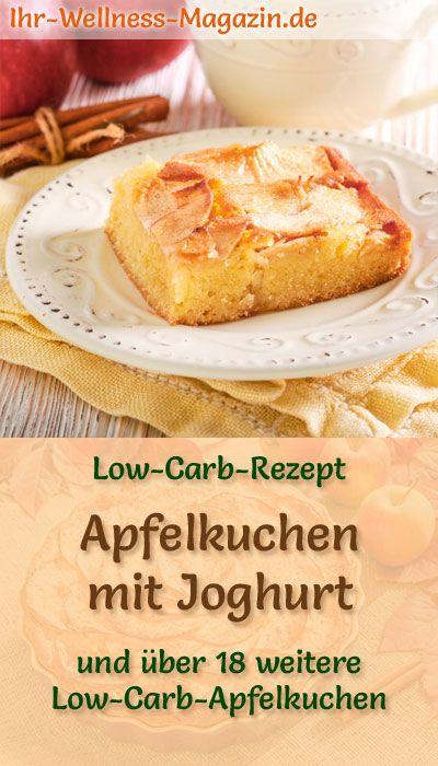 Schneller Low-Carb-Apfelkuchen mit Joghurt - Rezept ohne Zucker