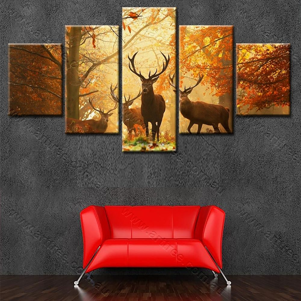 Reindeer in jungle african wall art for sale popular animal arttreework also canvas print pinterest rh