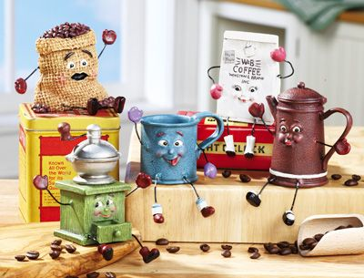 Vintage Coffee Kitchen Figurines