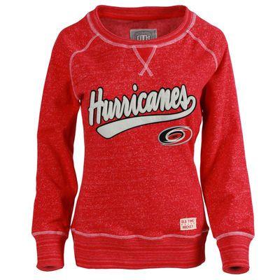 Women s Carolina Hurricanes Old Time Hockey Red Seneca Snow Fleece Crew  Sweatshirt befdd0ebf
