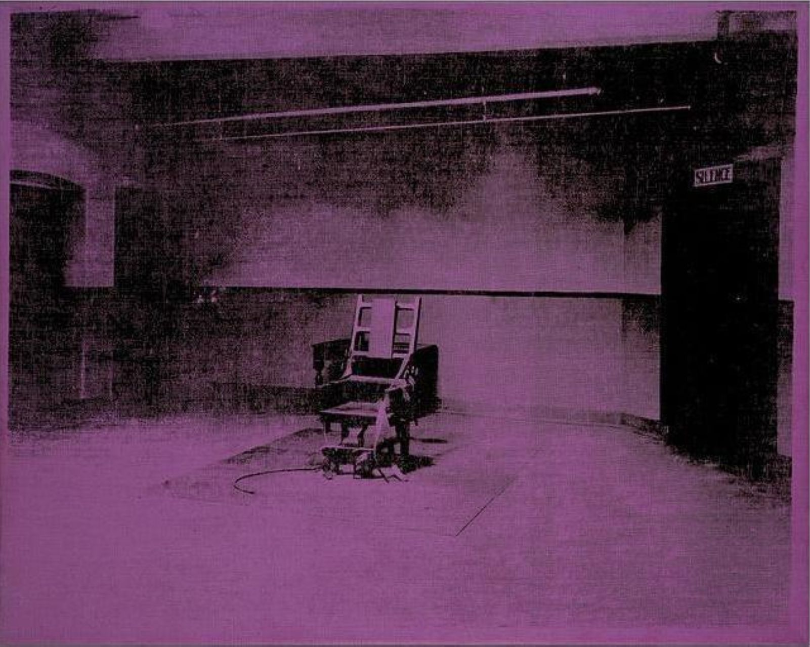 Electric chair andy warhol - Andy Warhol Little Electric Chair X 71 Cm Silkscreen Ink