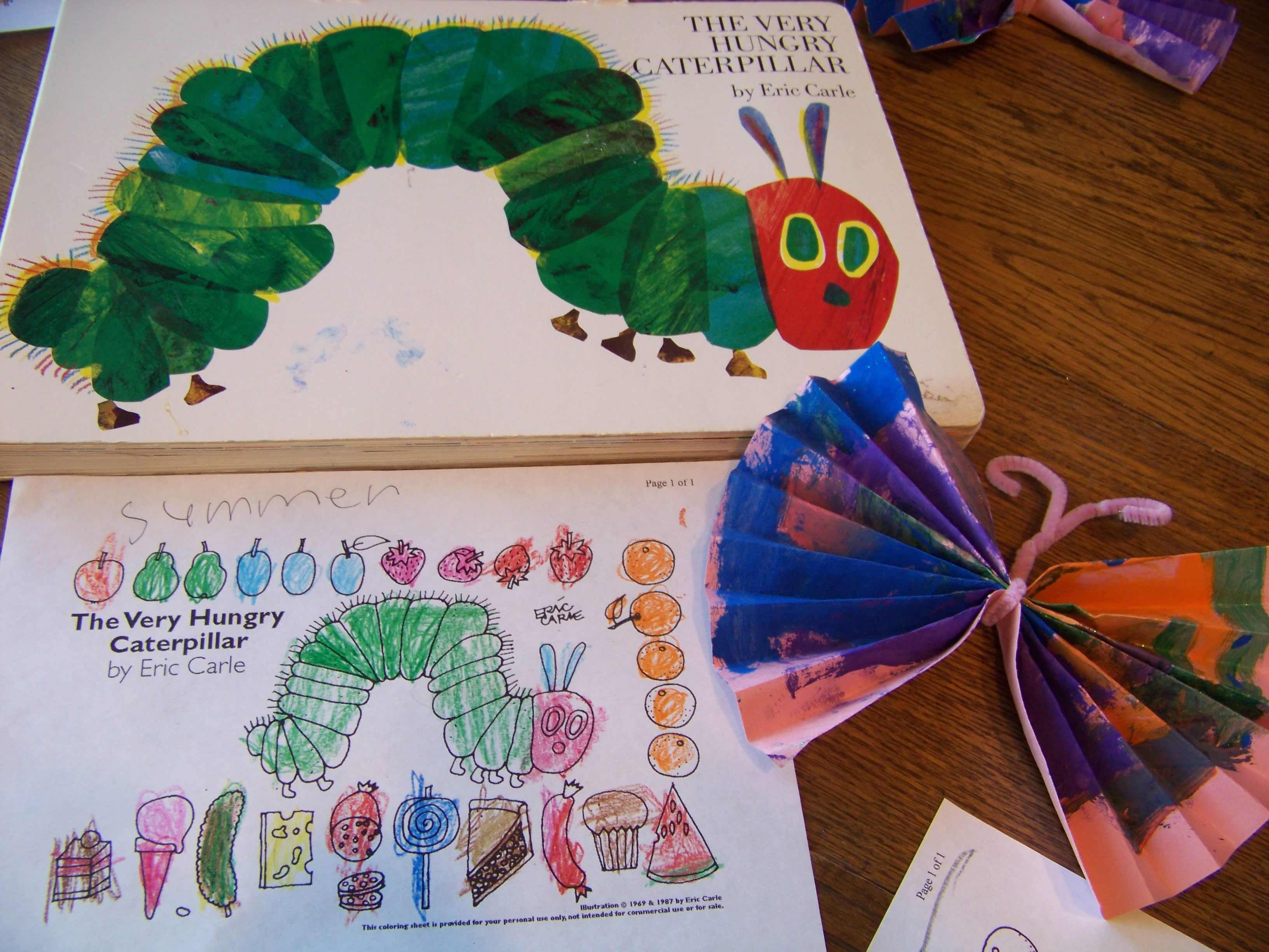 Very Hungry Catapillar Activity Read The Book By Eric