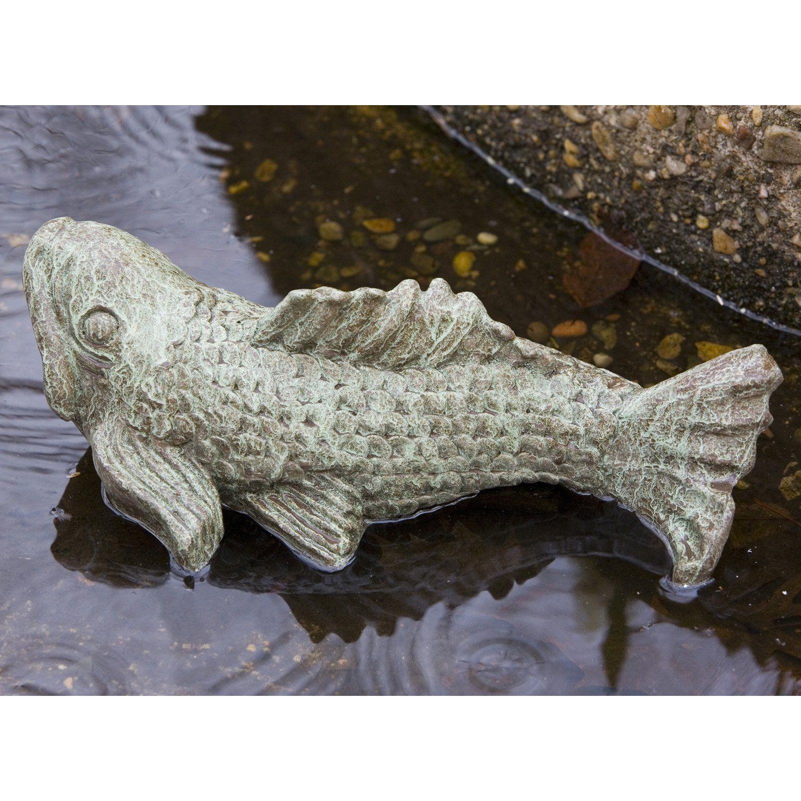 Campania International Swimming Fish Cast Stone Garden