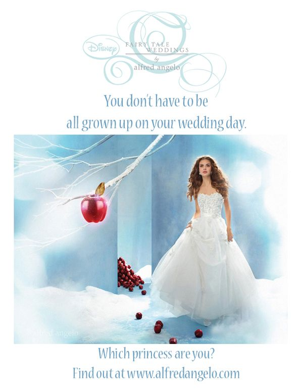 Alfred Angelo Disney Wedding Dress Ads by Maricelie Mosman, via Behance #myartinstitute