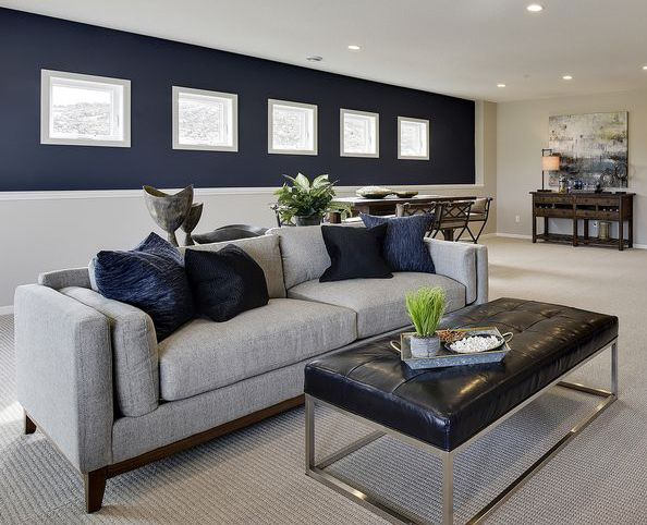 Navy Blue Paint Colors With Images Blue Living Room Decor