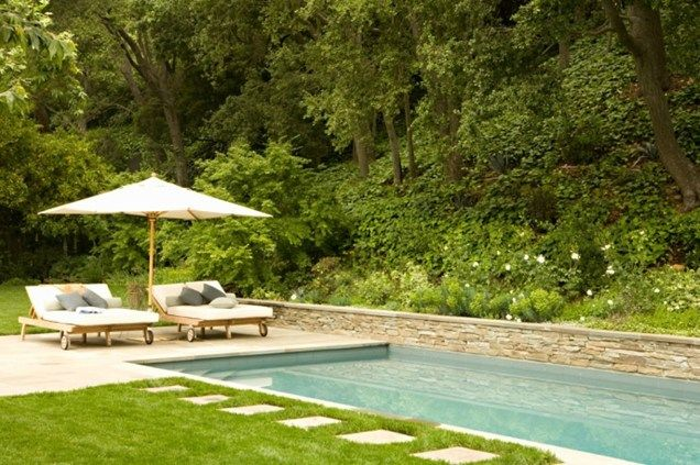 Rectangular Pool Landscape Designs rectangle pool, pool wall swimming pool patricia a. benner