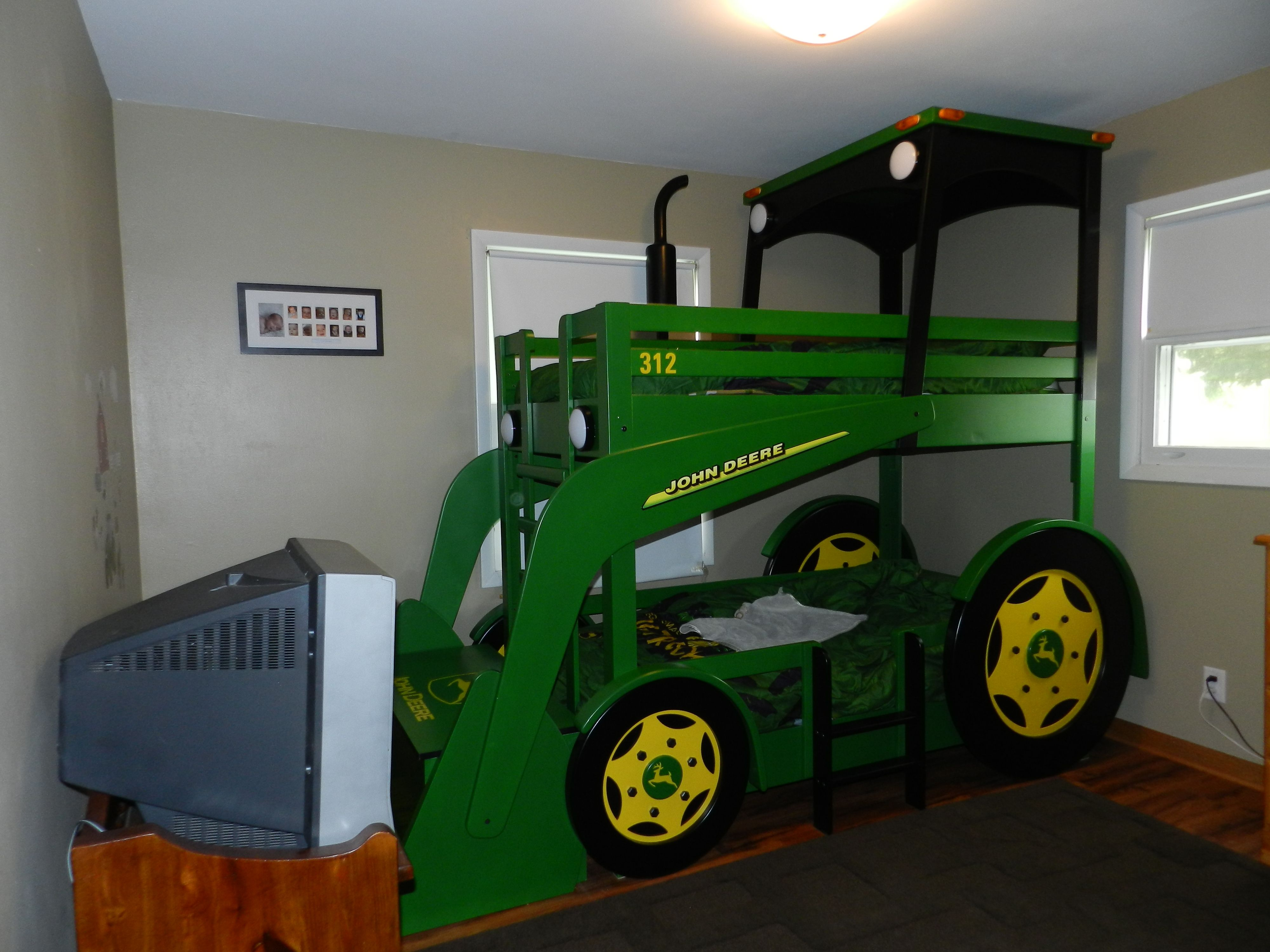 John Deere Tractor Bed. Made especially for my son. Bucket ...