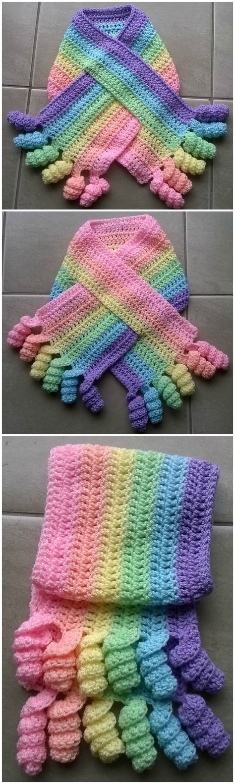 Such a delightful looking Crochet Baby Scarf! Love it! | Crocheted ...