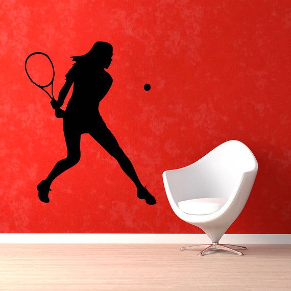Tennis Wall Decals Woman Tennis Player Sport By Walldecalswithlove