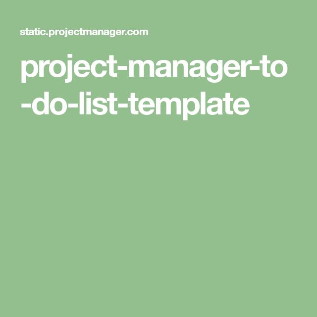Project-manager-to-do-list-template