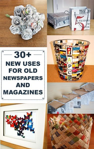 30 new uses for old newspapers and magazines is part of Newspaper crafts - 30+ New Uses For Old Newspapers and Magazines Newspaperart DIY
