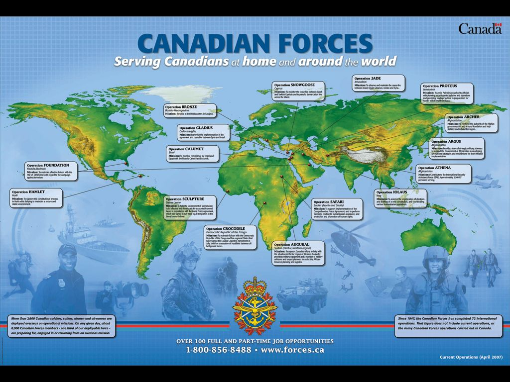 Canadian Forces...serving Canadians at home and around