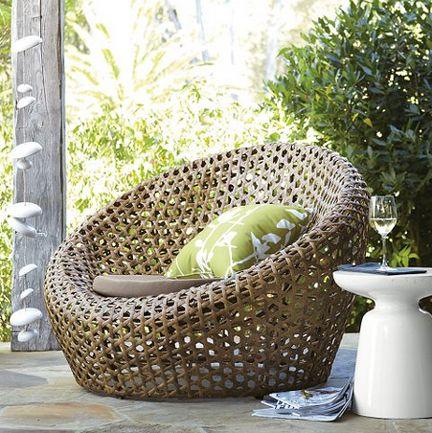 West Elm Woven Outdoor Chair Nest