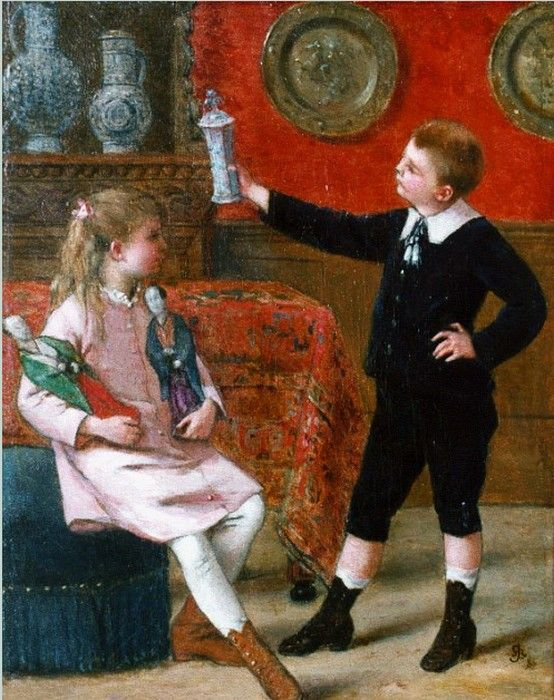 Albert Roosenboom 1845 1873 The Young Connoisseur 554x700