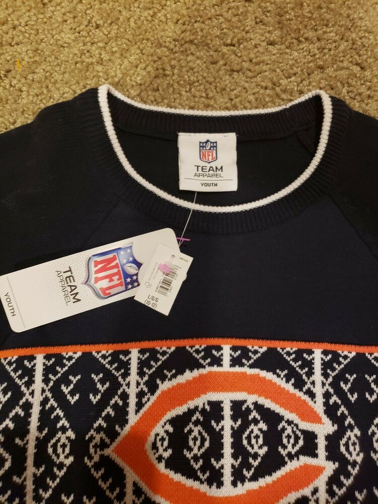 43286f3e AUTHENTIC NFL GIRLS SZ10/12 CHICAGO BEARS SWEATER.SO SO CUTE!SUPER ...