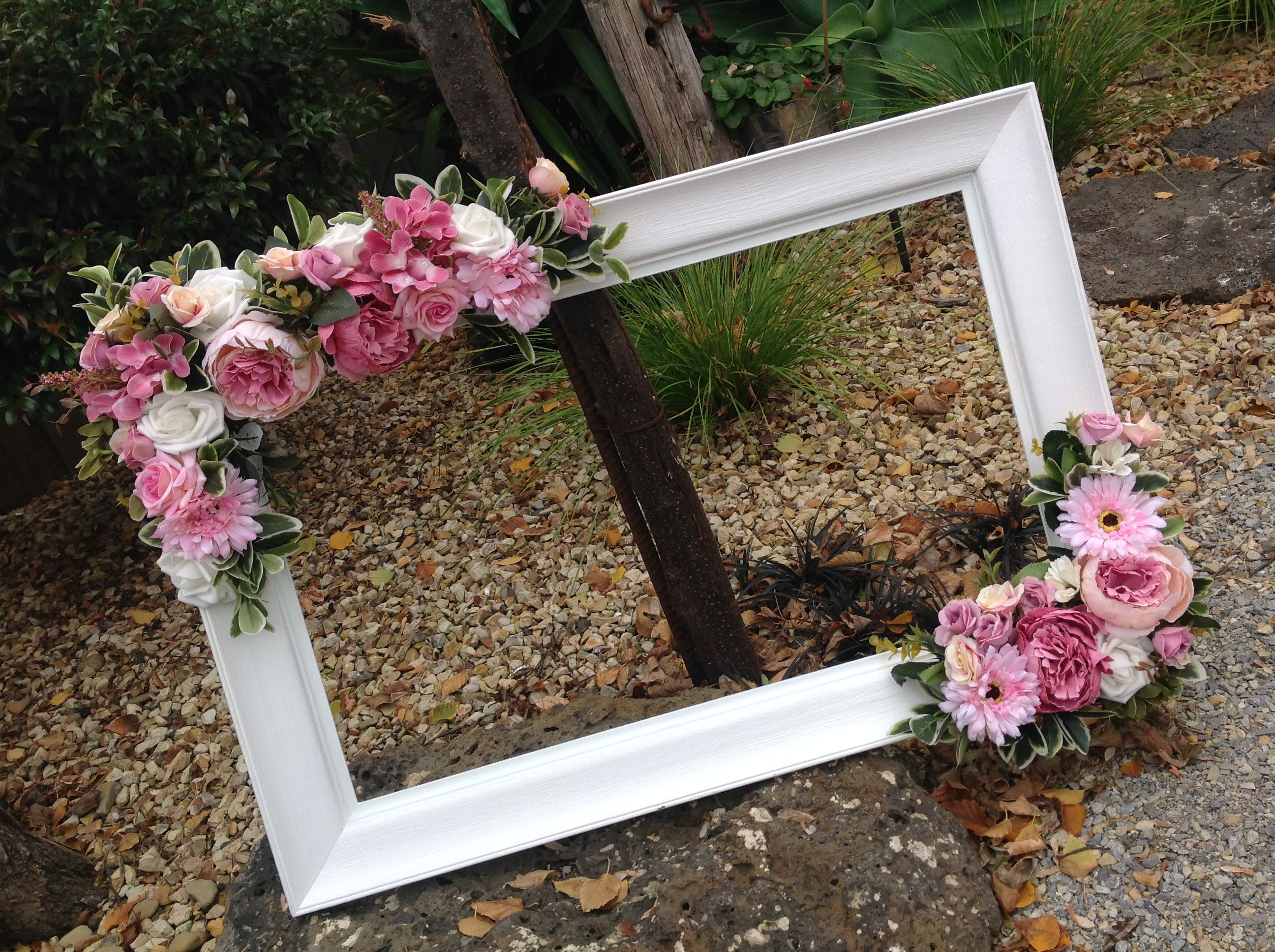 Frames Decorated With Silk Flowers For Any Occasion By Shezzadees On