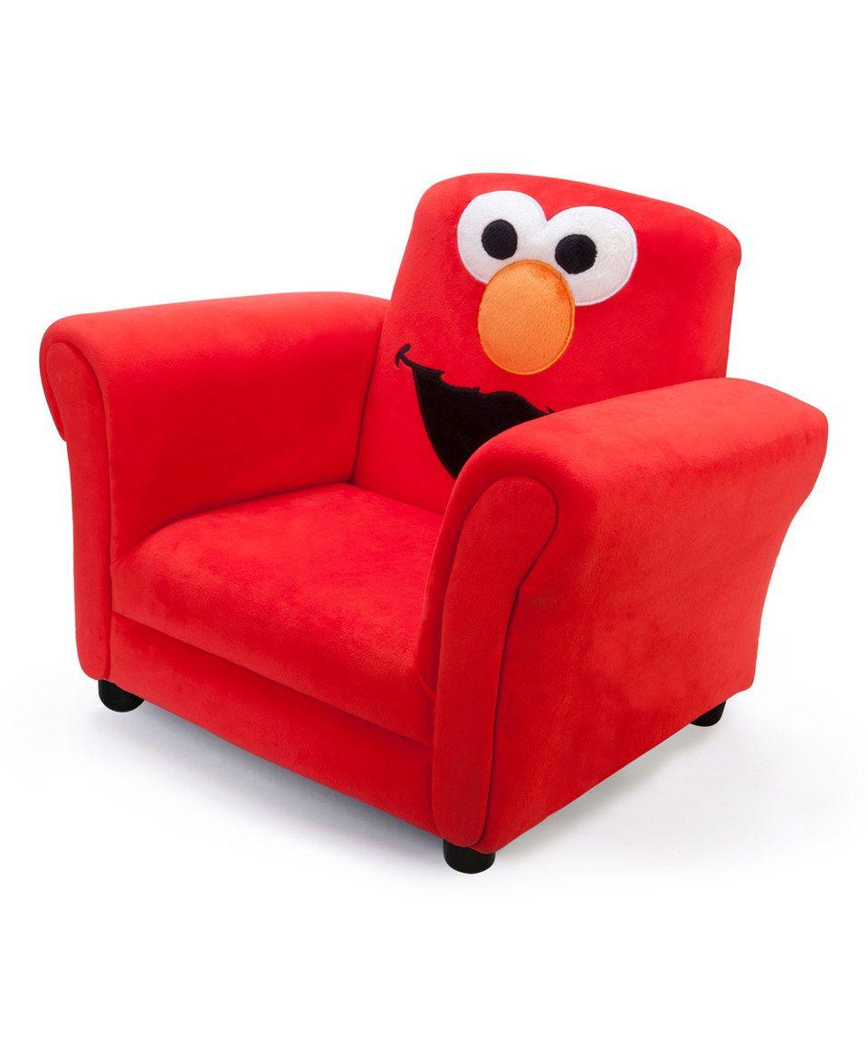 Sesame street elmo giggle sofa chair by sesame street zulily zulilyfinds