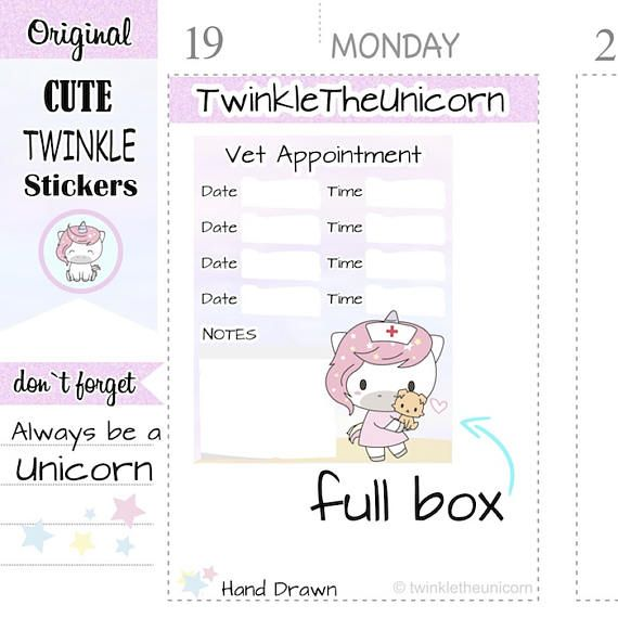 A333 appointment planner stickers,vet appointment #papergoods - appointment planner
