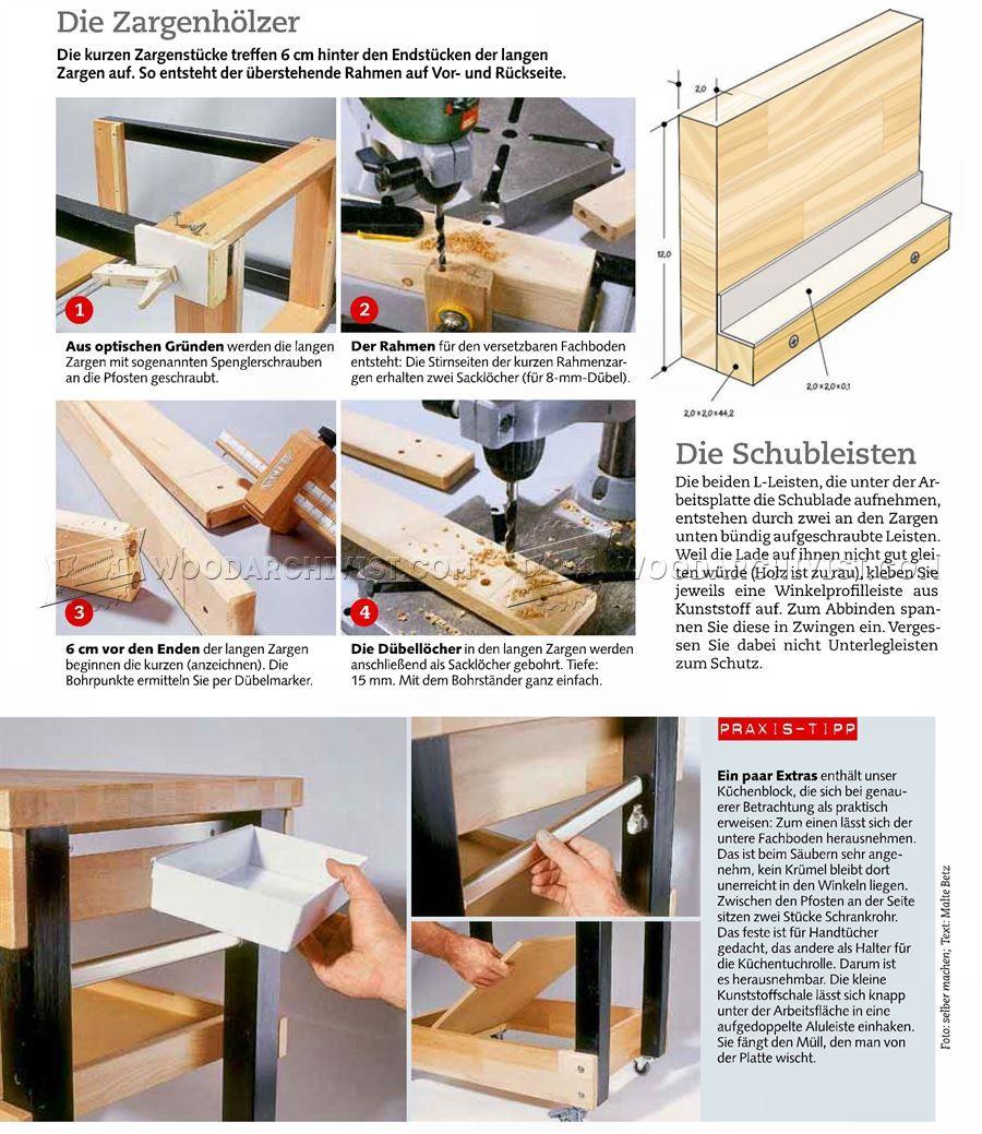 Kitchen Cart Plans - Furniture Plans | woodworking ideas | Pinterest