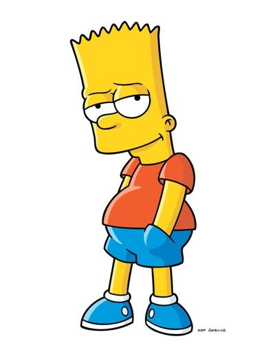 bart simpson is my favorite character from the simpsons looming