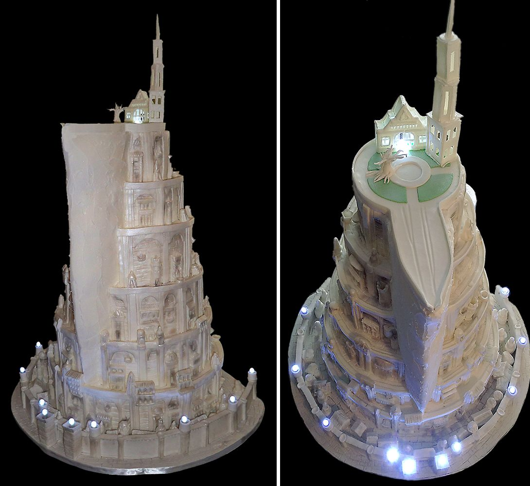 41 Unique Wedding Gift Ideas For Bride And Groom In 2020: A Very Unique Wedding Cake Inspired By Minas Tirith, The