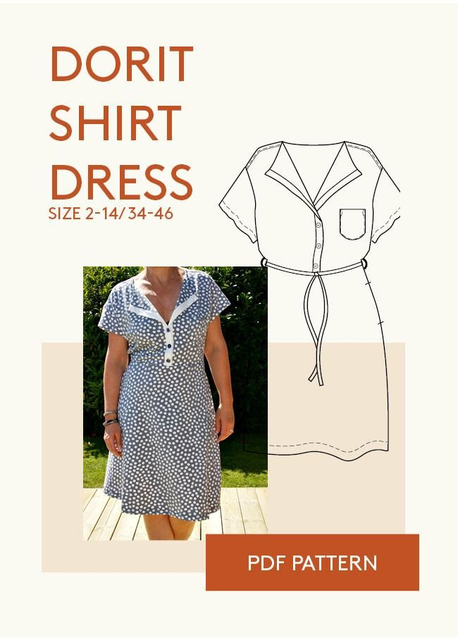 dress pattern for women PDF sewing pattern | DIY | Pinterest | Costura
