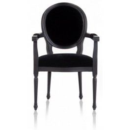 Louis Xiv French Black Dining Armchair With Images Traditional
