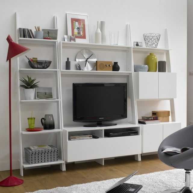 Etag re chelle meuble tv giusto la redoute int rieur for Meuble etagere tv