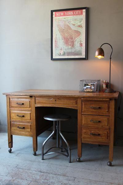 Vintage 1930s Oak Desk Vintage Oak Desk Antique Writing Desk Vintage Desk