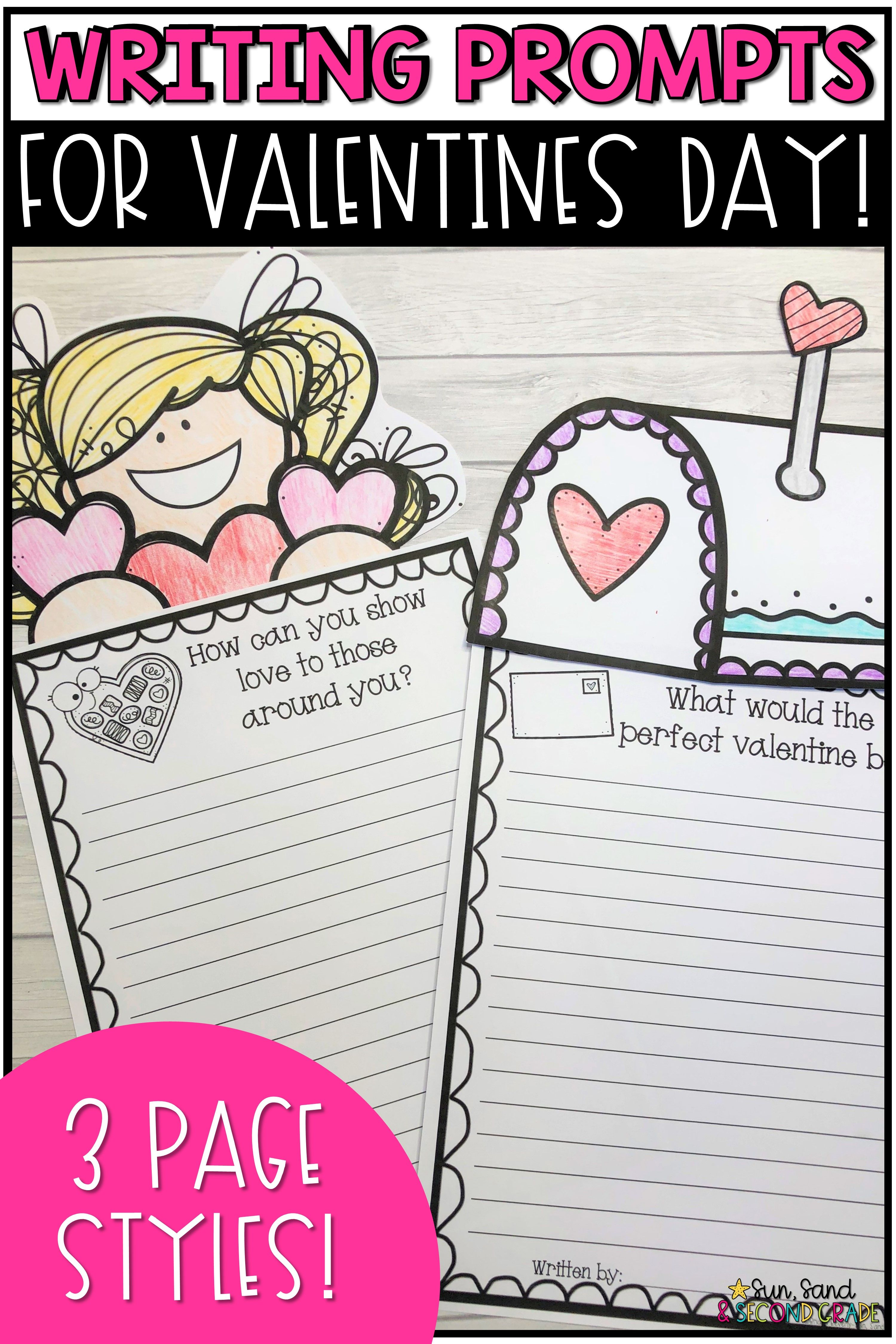Valentines Day Writing Prompts Amp Page Topper Craftivities