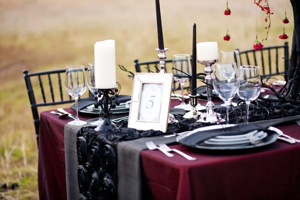 gothic table settings | Gothic Stylized Shoot | Special Event ...