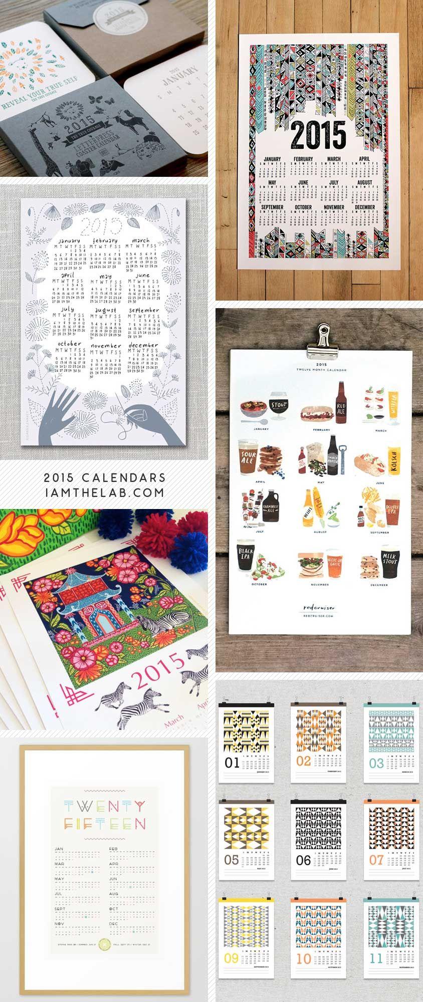 Handmade Calendar Design : Handmade modern calendars via iamthelab lab