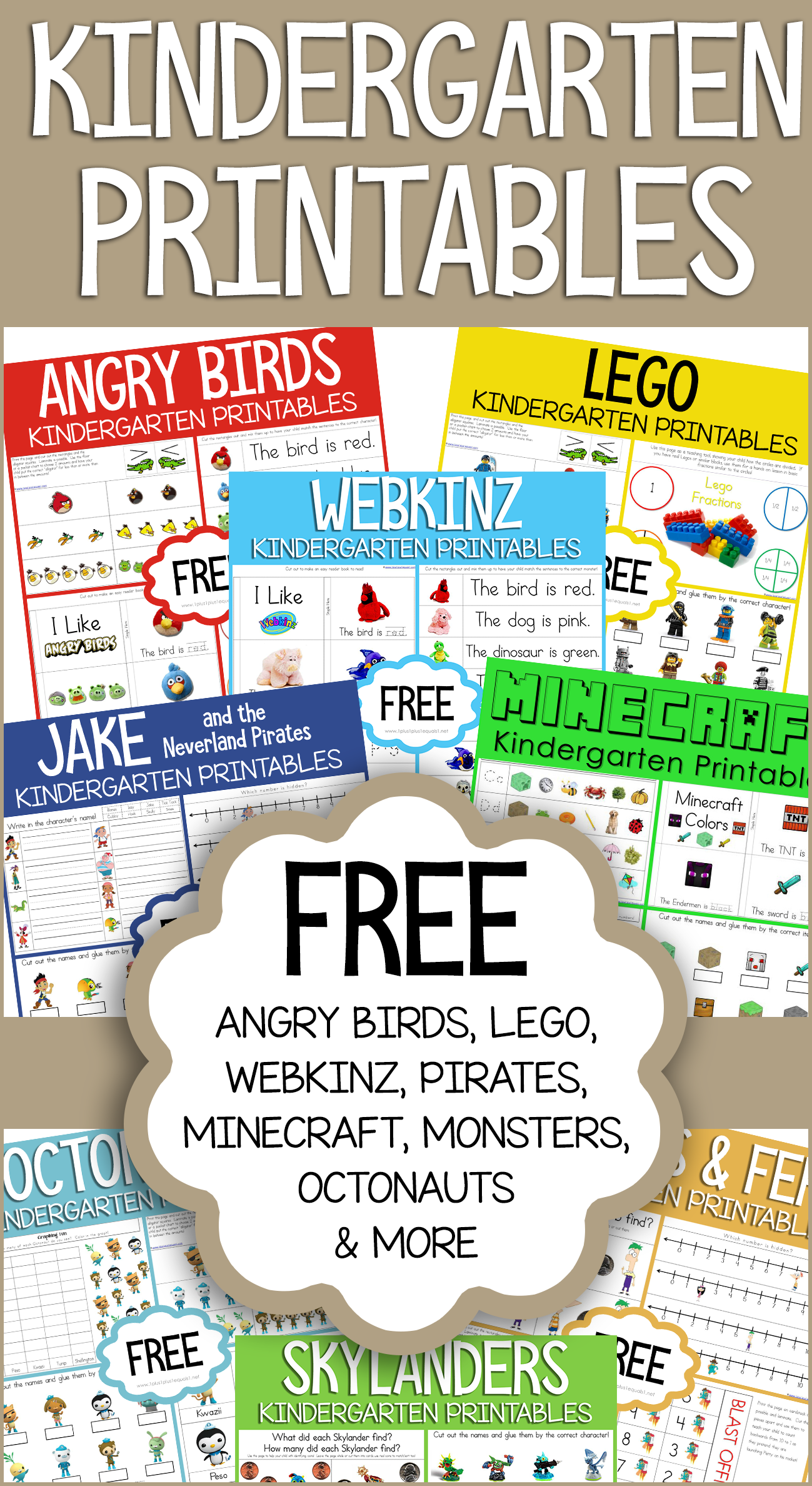 Free Kindergarten Printables Loads Of Themes